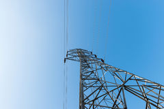 High voltage post or High voltage tower Stock Image