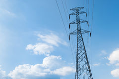 High voltage post or High voltage tower Stock Photos