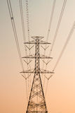 High voltage post.High-voltage tower Stock Photo