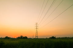 High voltage post Stock Images