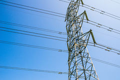 High voltage post tower Royalty Free Stock Images