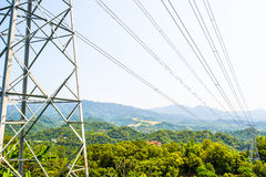 High voltage post tower Stock Photography