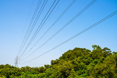 High voltage post tower Royalty Free Stock Photos