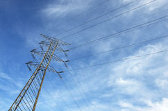 High voltage post. Stock Photography