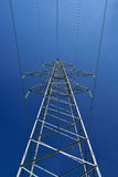 The high-voltage post under blue sky Royalty Free Stock Images