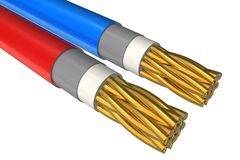 High voltage power cable close-up Stock Photography
