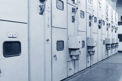 High-voltage power distribution room Royalty Free Stock Photo