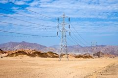 High voltage power electricity pylon Stock Photography