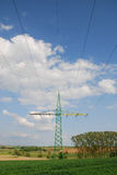 High voltage power line Royalty Free Stock Photography
