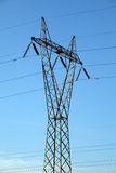 High voltage power Line. In blue sky Royalty Free Stock Image