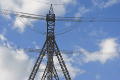 High-voltage power line Royalty Free Stock Photos