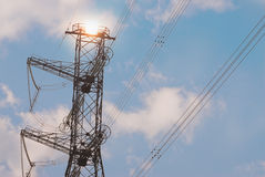High-voltage power line Royalty Free Stock Image