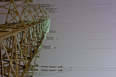 High voltage power line Stock Image