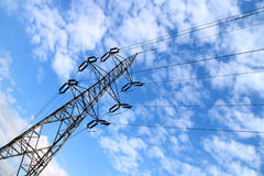 High voltage power line Royalty Free Stock Image