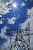 High voltage power line Royalty Free Stock Images