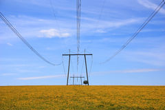 The high-voltage power line Royalty Free Stock Photography