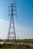 High-voltage power line Stock Image