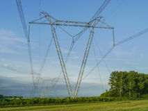 High-voltage power line Stock Photos