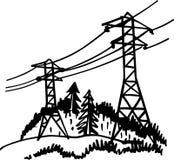 High voltage power line Stock Photos