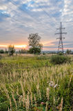 High voltage power line Stock Photography