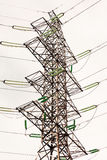 High-voltage power line pole Stock Image