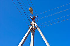 High voltage power line pylon Royalty Free Stock Photography