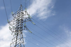 High-voltage power line pylon Royalty Free Stock Photo