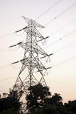 High-voltage power line tower Stock Photos