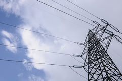 High voltage power line Royalty Free Stock Photos