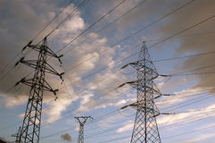 High voltage power line Stock Photo