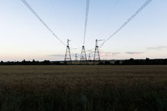 High-voltage power line. Towers for power transmission lines high voltage Royalty Free Stock Image