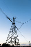 High-voltage power line. Towers for power transmission lines high voltage Stock Images