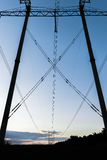 High-voltage power line. Towers for power transmission lines high voltage Stock Photography