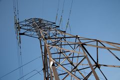 High-voltage power lines Stock Image