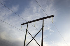 High Voltage power lines Stock Photo