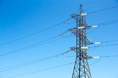 High voltage power lines Royalty Free Stock Image