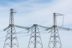 High-voltage power lines. Royalty Free Stock Photography