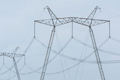 High-voltage power lines. Stock Images
