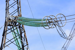 High-voltage power lines. Royalty Free Stock Image