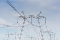 High-voltage power lines. Royalty Free Stock Photo