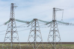 High-voltage power lines. Stock Photography