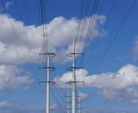 High voltage power lines Stock Images