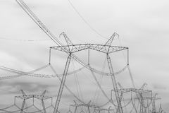 High-voltage power lines. Royalty Free Stock Images