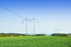 High voltage power lines Stock Photography