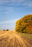High-voltage power lines Royalty Free Stock Photo