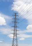 Electricity distribution station Royalty Free Stock Photo