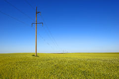 High-voltage power lines Royalty Free Stock Images