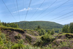High voltage power lines. Stock Photography