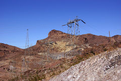 High-Voltage Power Lines from Hoover Dam Stock Image