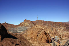 High-Voltage Power Lines from Hoover Dam Stock Photography